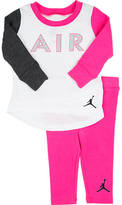 Nike Girls' Toddler Air Jordan Mesh Long-Sleeve Shirt and Pants Set