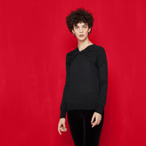 Maje Fine knit jumper with knot detail