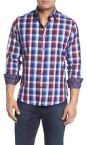 Stone Rose Slim Fit Plaid Sport Shirt