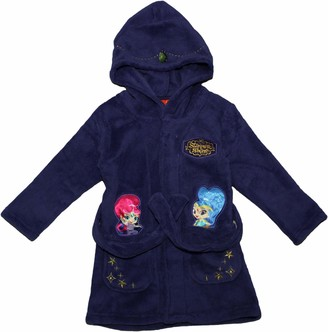 Nickelodeon Shimmer and Shine Kids Dressing Gown with Hood Purple 3 Years