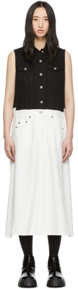 MM6 MAISON MARGIELA White Denim Bi-Color Dress