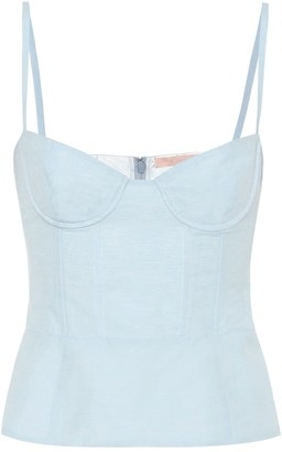Brock Collection Quip cotton and linen bustier top