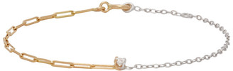 Yvonne Léon Gold and White Gold Solitaire Bracelet