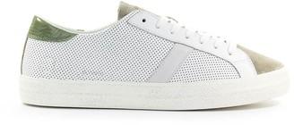 D.A.T.E Hill Low Vintage White Green Sneaker
