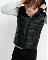 Express Minus the) leather hooded puffer vest