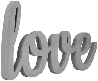 Pinnacle Frames Gallery Solutions Large Gray Script Love Wood Cut Out Word Wall Decor