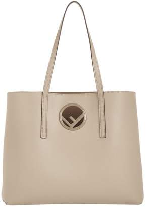 Fendi Leather Logo Shopper Bag