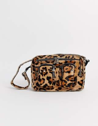 Nunoo Ellie Leopard Pony Shoulder Bag-Multi