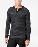 GUESS Men's Space-Dyed Henley