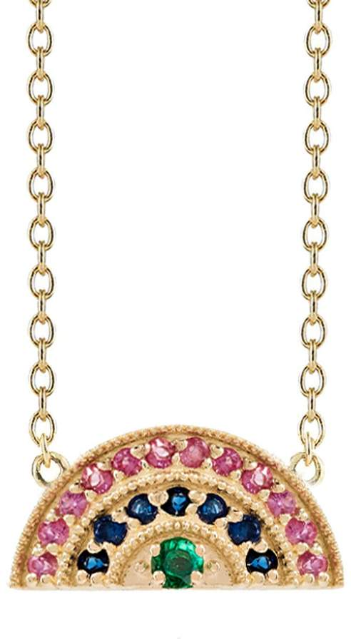 Andrea Fohrman Multi-Gemstone Rainbow Necklace - Yellow Gold