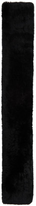 Yves Salomon Black Knit Fur Scarf