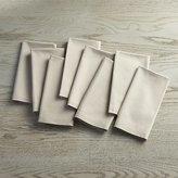 Crate & Barrel Set of 8 Fete Dove Grey Cloth Napkins