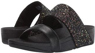 FitFlop Rosa Glitter Slide (Black Mix) Women's Shoes