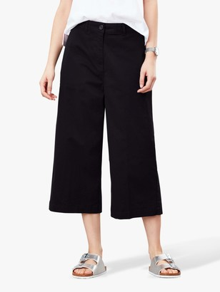 Joules Compton Wide Leg Cropped Chinos, Black