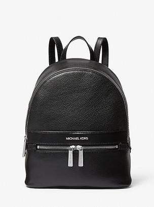MICHAEL Michael Kors MK Medium Leather Backpack - Black - Michael Kors