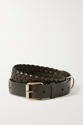 Andersons Woven Leather Belt - Chocolate