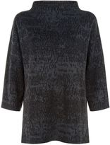 Eileen Fisher Jaquard Crew Neck Sweater
