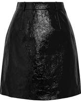 Carven Patent Textured-leather Mini Skirt - Black