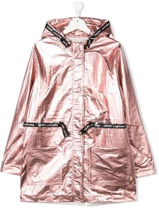 Little Marc Jacobs TEEN laminated hooded parka coat
