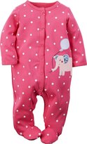 "Carter's Baby Girls' ""Elephant Party"" Footed Coverall"