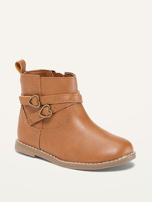 Old Navy Faux-Leather Double-Strap Boots for Toddler Girls