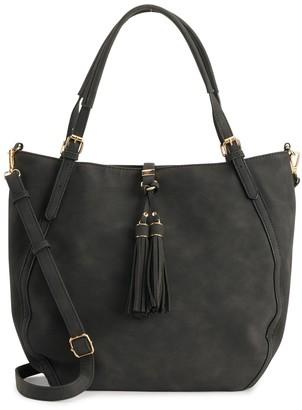 Violet Ray Boho Hobo Crossbody Bag
