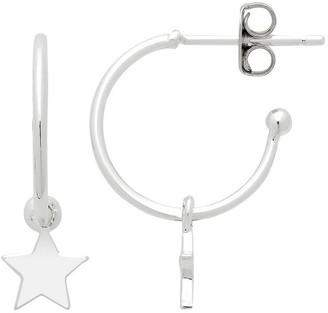 Estella Bartlett Star Drop Hoop Earrings