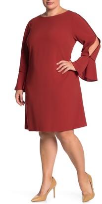 Lafayette 148 New York Jorie Bell Sleeve Dress (Plus Size)