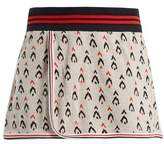 The Upside Serve Witch Mountain-jacquard cotton skirt