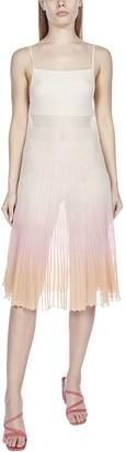 Jacquemus Helado Pleated Cotton Blend Knit Dress