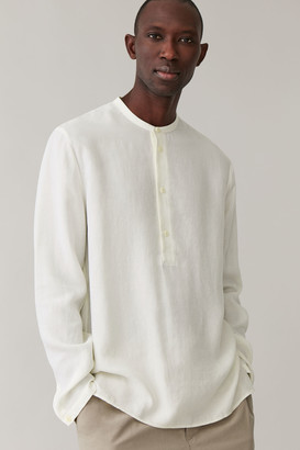 Cos Relaxed Shirt With Dipped Hem