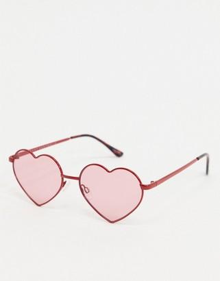 Quay Heartbreaker sunglasses in red