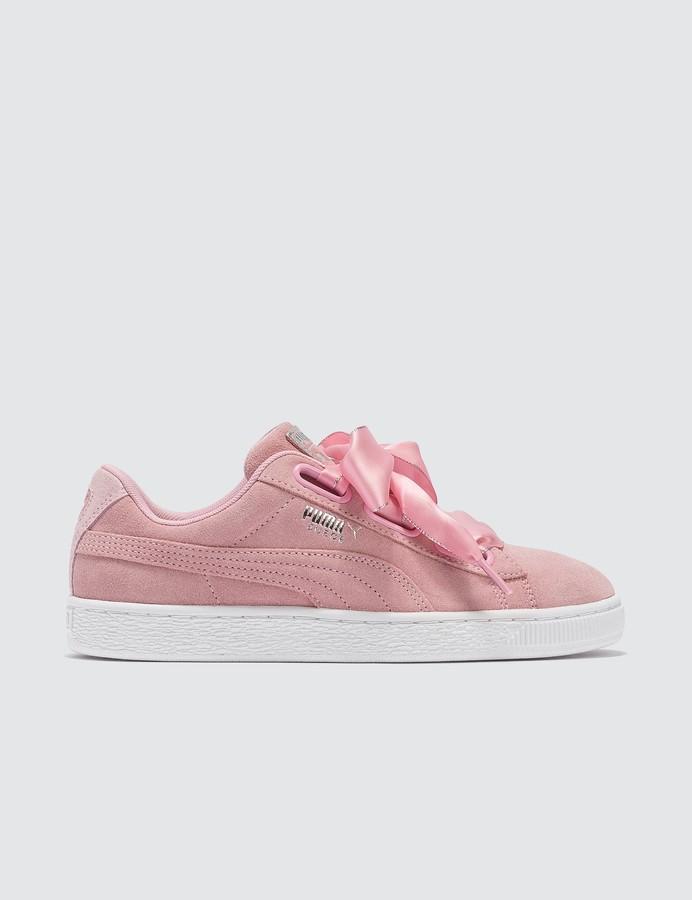 watch dac61 60ae3 Pink Suede Heart Galaxy Women's Sneaker