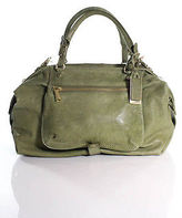 Gryson Green Leather Shoulder Handbag
