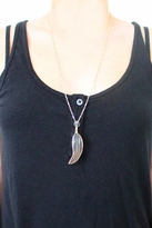 Heather Gardner Gold Wrapped Feather Necklace in Brown