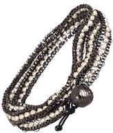 Blu Bijoux Silver Beaded Wrap Around Bracelet