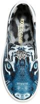 Roberto Cavalli Tiger Nappa Leather Slip-On Sneakers