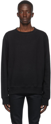 Naked and Famous Denim Black Heavyweight Terry Crewneck Sweatshirt