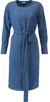 MiH Jeans Edie Polka-Dot Linen Dress