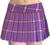 SenecaClothing Plus Size Schoolgirl Tartan Plaid Pleated Mini Skirt 5x