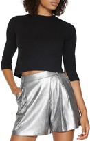 Halston Cutout Cropped Sweater