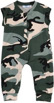 Albee Yang Baby Boys Sleeveless Cutest Camouflage Jumpsuit Bodysuit Overall
