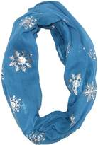 David & Young Women's Snowflake Holiday Infinity Loop Scarf