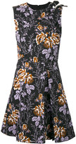 Victoria Beckham floral flared dress - women - Cotton - 8