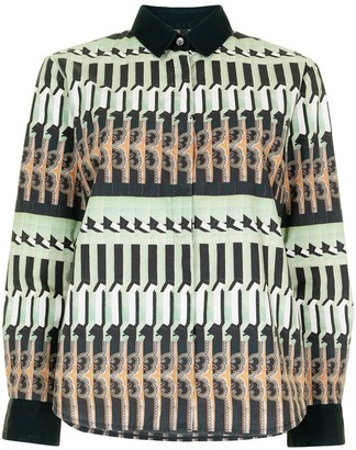 Dries Van Noten Pre-Owned Geometric Pattern Shirt