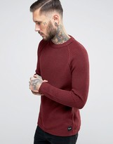 ONLY & SONS Ribbed Fishermans Knitted Sweater