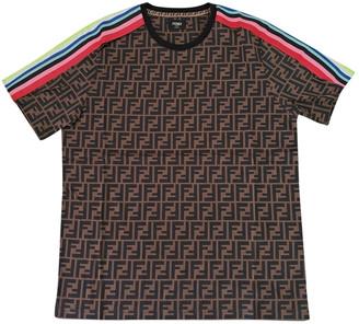 Fendi Brown Cotton T-shirts