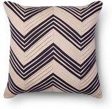 Threshold Pleated Chevron Square Decorative Pillow Tan