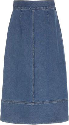 Sea Denim Midi Skirt