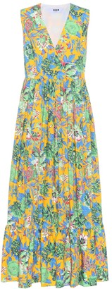 MSGM Floral-printed cotton dress